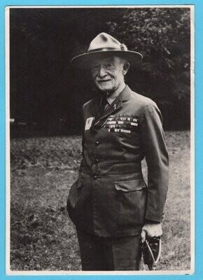 NEDERLAND Jamboree 1937 prentbriefkaart Baden Powell naar Luxemburg