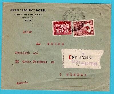 PERU R cover 1922 Huacho to Austria