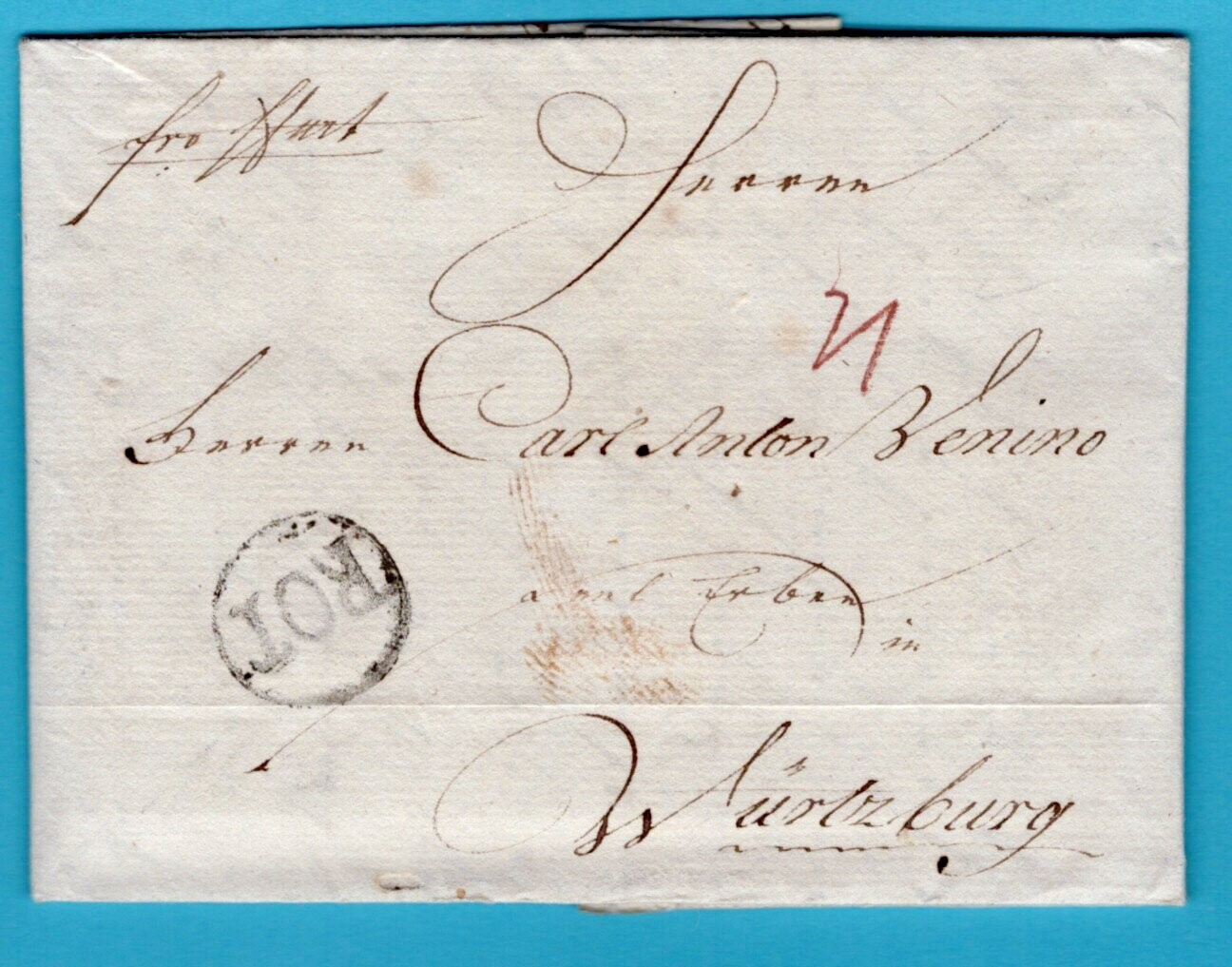 NEDERLAND brief 1790 Rotterdam naar Würtzburg Duitsland