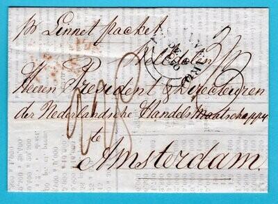 BRAZIL entire 1850 R.d.Janeiro