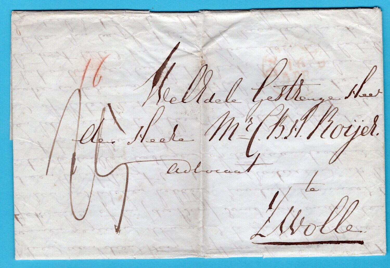 NEDERLAND brief 1846 Goor naar Zwolle