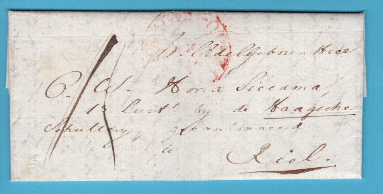 NEDERLAND brief 1831 Halsteren naar Riel Deboursé Breda