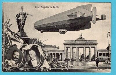 GERMANY Picture Post Card Graf Zeppelin in Berlin