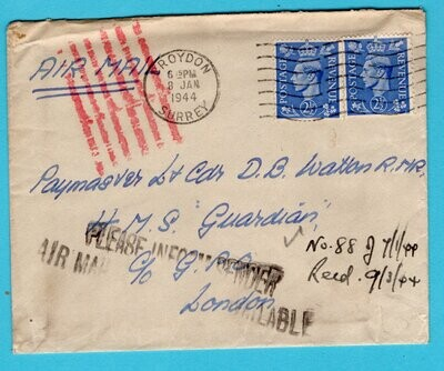 ENGLAND cover 1944 Croyden to London