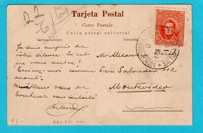URUGUAY PPC 1914 Salto to Montevideo