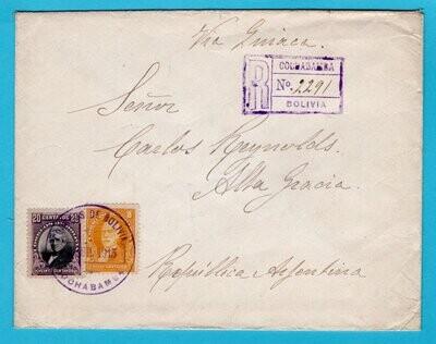 BOLIVIA R cover 1915 Cochabamba to Argentina