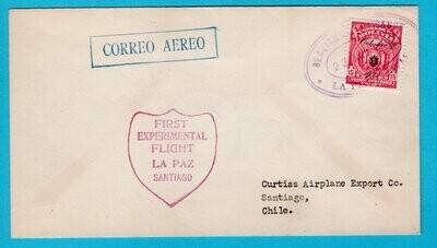 BOLIVIA air cover 1928 La Paz first experimental flight