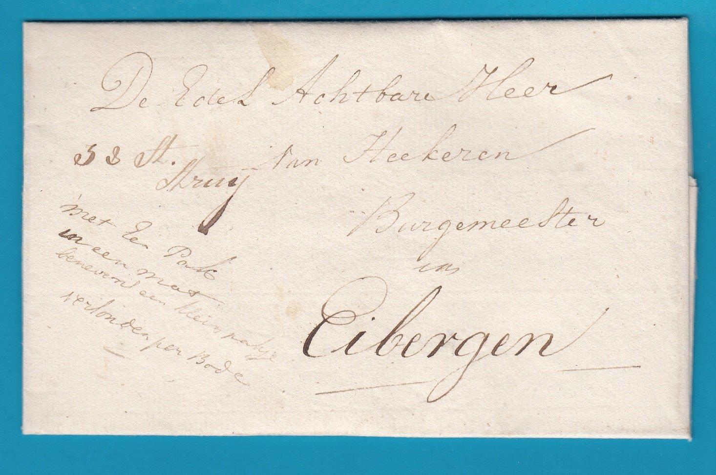 NEDERLAND complete brief 1831 Amsterdam naar Eibergen