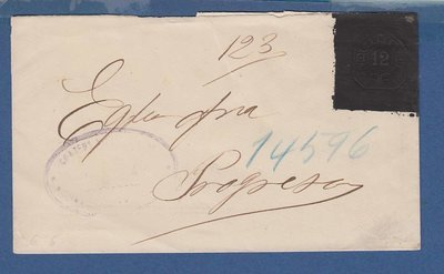 ARGENTINA envelope 12ctvos made black for oficial use