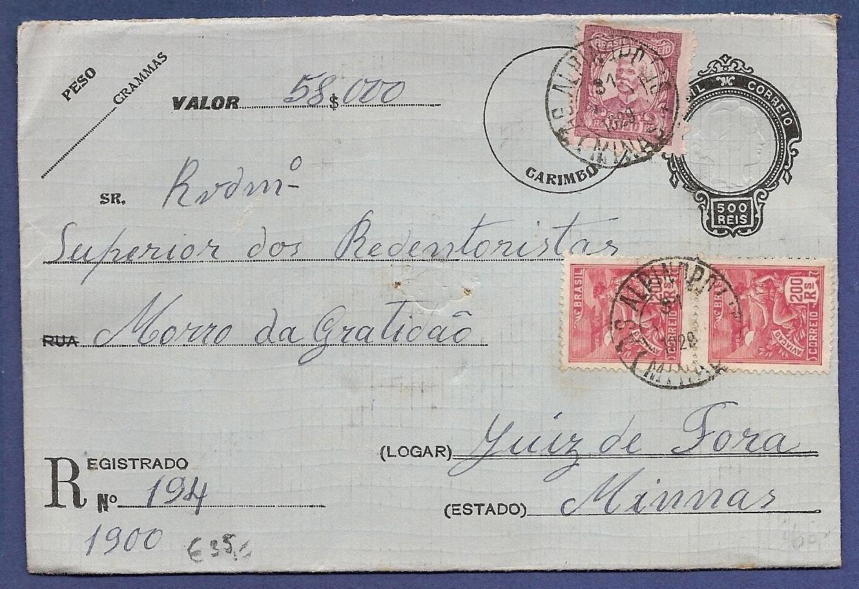 BRAZIL R envelope 1928 Alpinopoles to Juiz de Fora