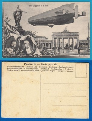 GERMANY Picture Post Card Graf Zeppelin in Berlin