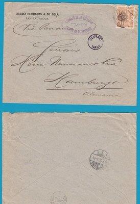 El Salvador cover 1902 San Salvador to Germany