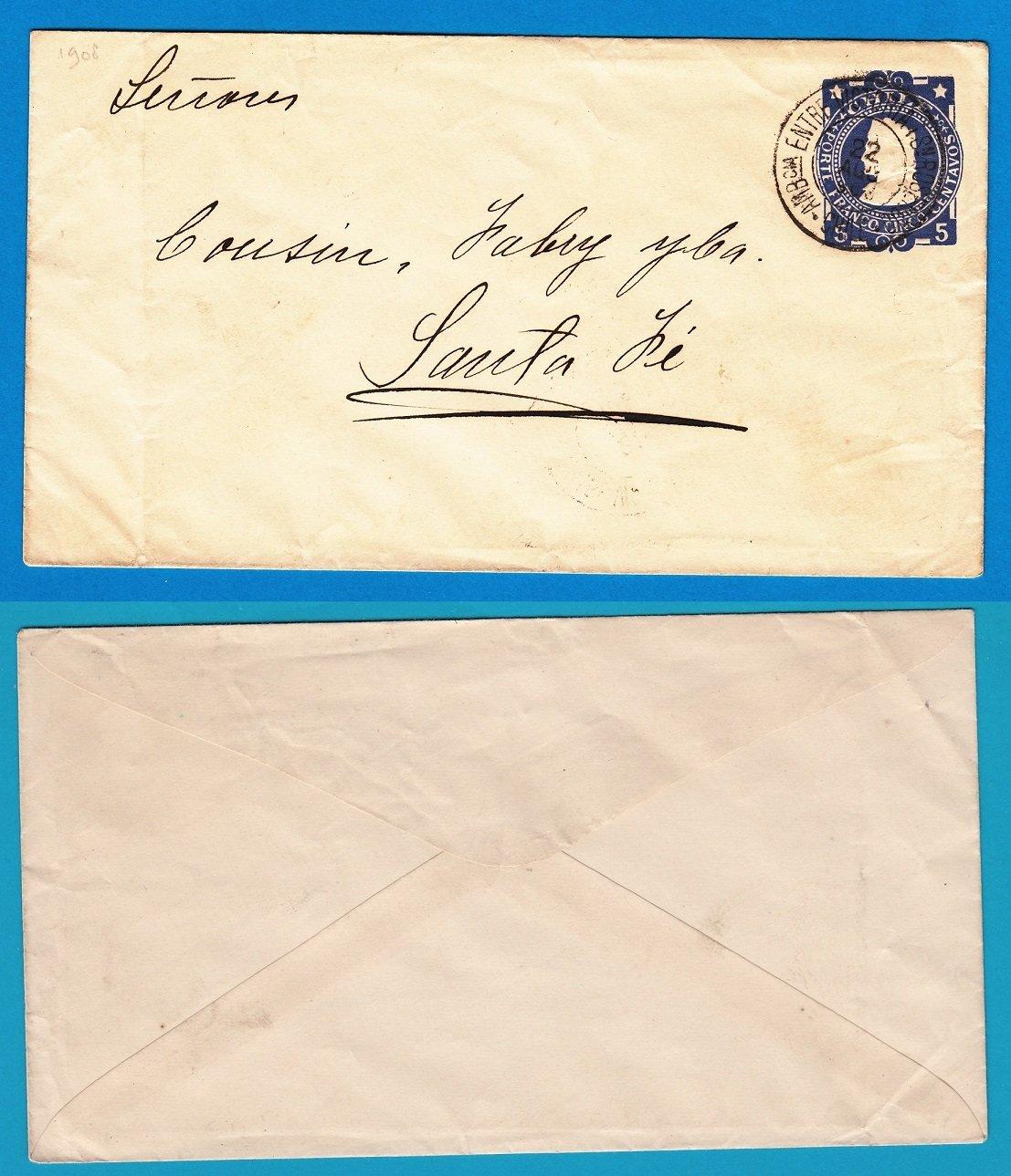 CHILE envelope 1903 with Ambulancia Entre Victoria y Sn Rosendo