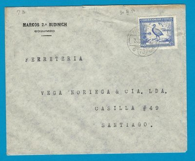 CHILE cover 1950 Coquimbo with Ambulancia 73