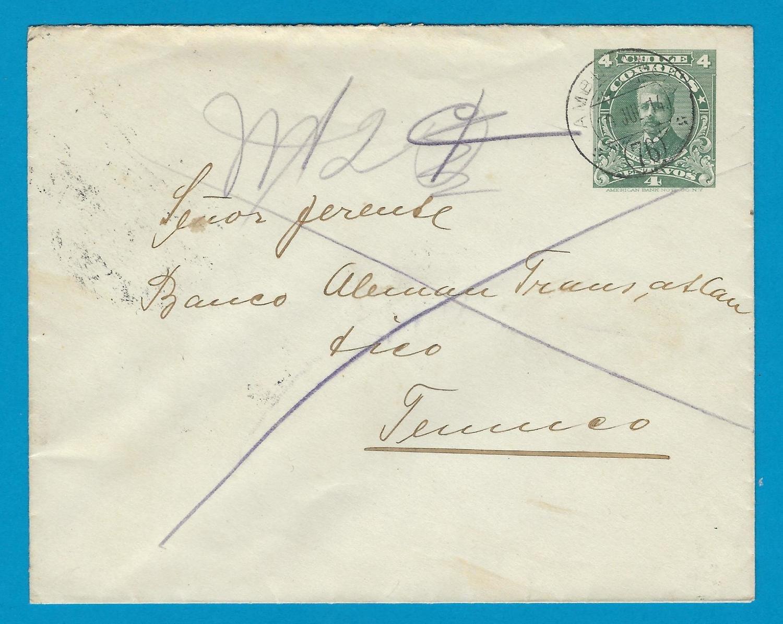 CHILE envelope 1914 with Ambulancia 76