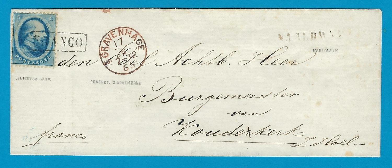NEDERLAND omslag 1865 Naaldwijk naar Koudekerk