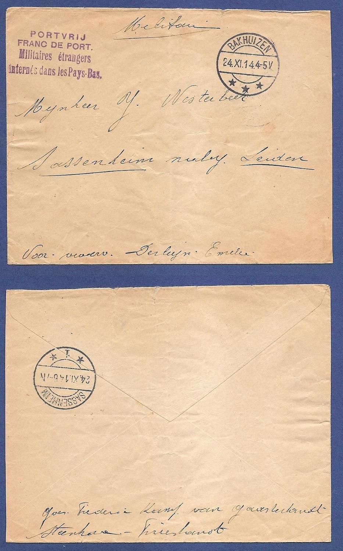 NEDERLAND militaire brief 1914 Bakhuizen