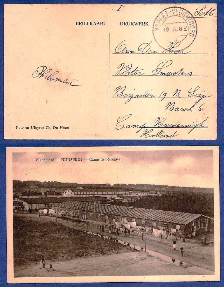 NEDERLAND prentbriefkaart 19(?) Nunspeet-Vluchtoord