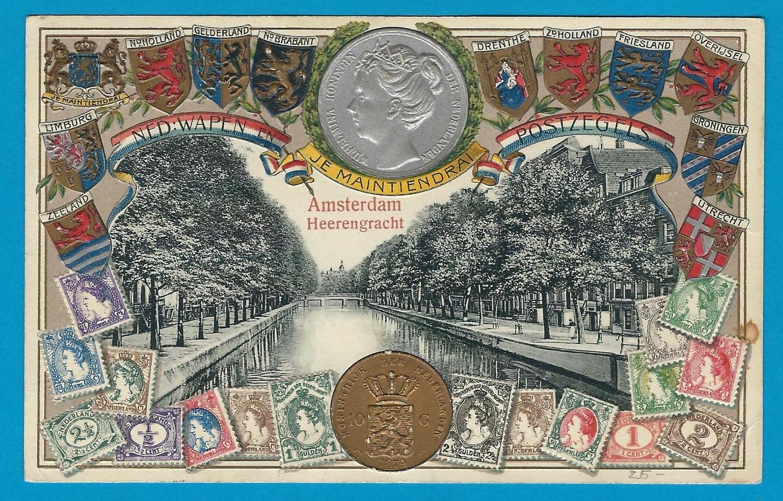 NEDERLAND prenbriefkaart 1910 Amsterdam