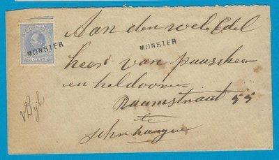 NEDERLAND brief 1886 Naaldwijk naar Den Haag