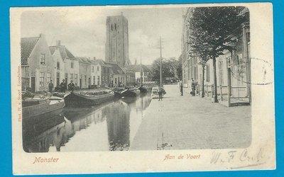 NEDERLAND prentbriefkaart 1902 Monster naar Enkhuizen