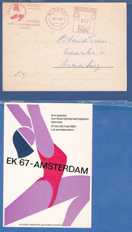 NEDERLAND Turnkampioenschap 1967 roodfrankering