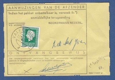 NEDERLAND bestelkaart 1974 Valkenburg met frankering 2e bestelling