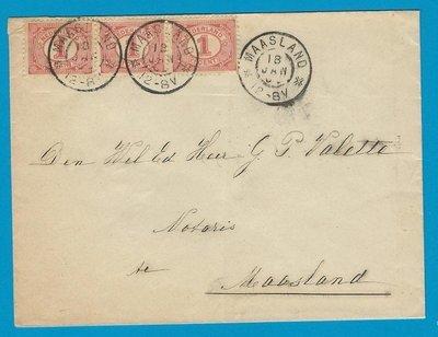 NEDERLAND lokale brief 1903 (?) Maasland