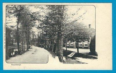 NEDERLAND prentbriefkaart 1908 Naaldwijk naar Nieuwendam