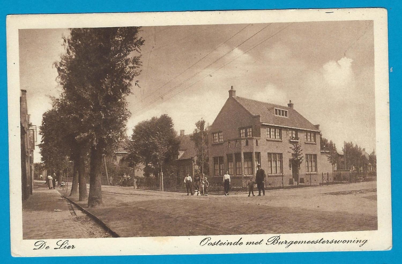 NEDERLAND prentbriefkaart de Lier 1927 met reclame stempel