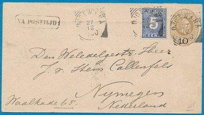NETHERLANDS EAST INDIES envelope 1900 Djoewana