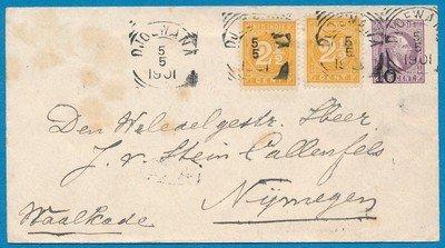 NETHERLANDS EAST INDIES envelope 1901 Djoewana
