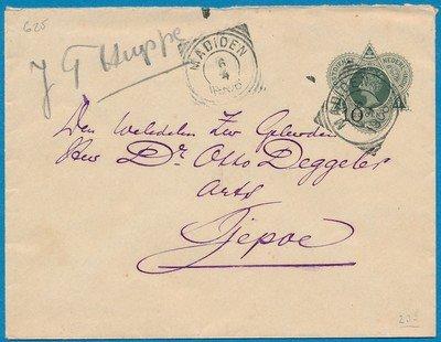 NETHERLANDS EAST INDIES envelope 1906 Madioen