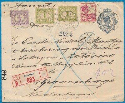 NETHERLANDS EAST INDIES R envelope 1917 Salatiga with censor