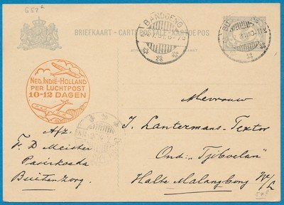 NETHERLANDS EAST INDIES card 1931 Buitenzorg