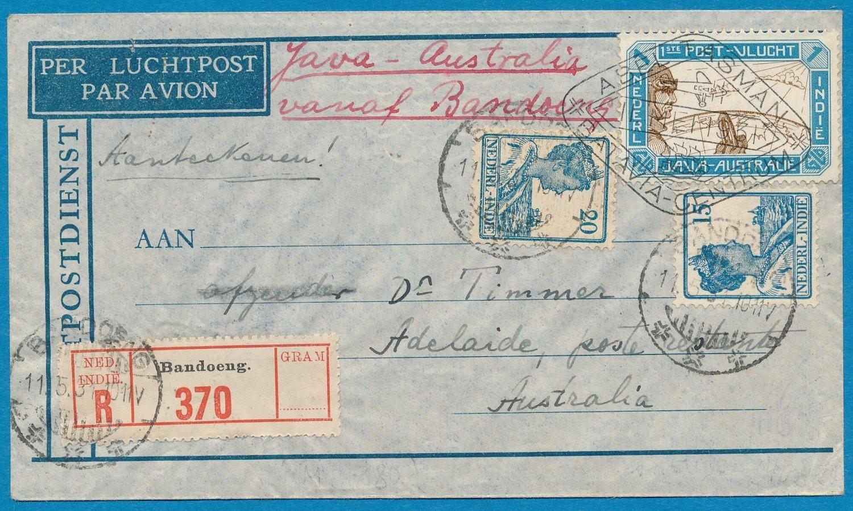 NETHERLANDS EAST INDIES R Tasman flight 1931 Bandoeng