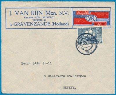NEDERLAND brief 1934 's Gravenzande naar Zwitserland