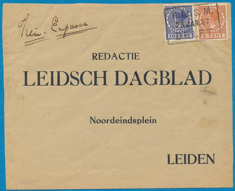 NEDERLAND expres treinbrief 1937 Naaldwijk -HIJSM Delft