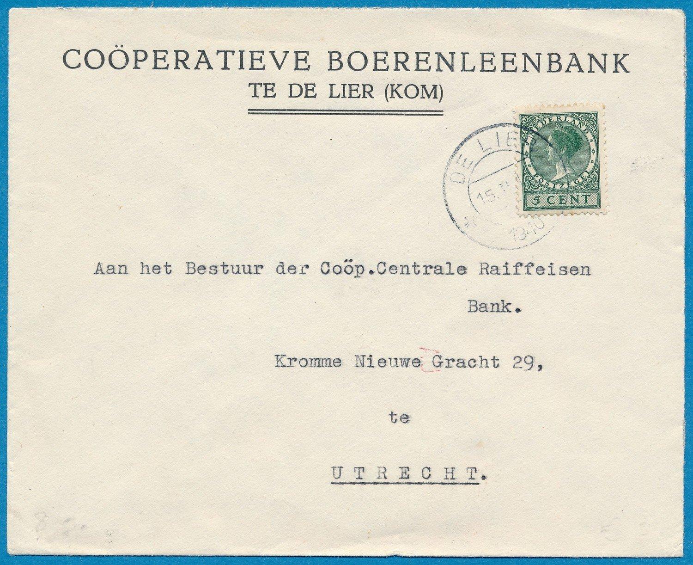 NEDERLAND brief 1940 De Lier naar Utrecht