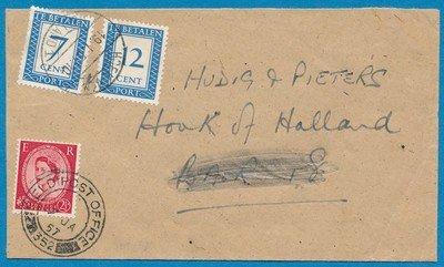 ENGELAND brief 1957 FPO 352 beport Hoek van Holland