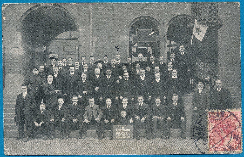 NEDERLAND prentbriefkaart Esperanto 1911 Amsterdam