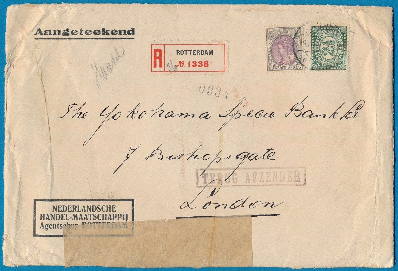 NEDERLAND R brief 1915 Rotterdam