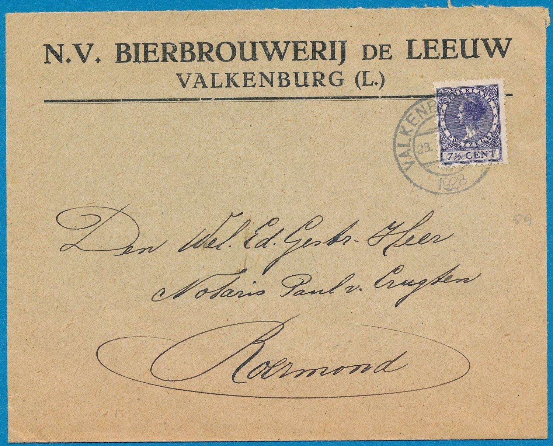 NEDERLAND 2 brieven 1928-35 Bierbrouwerij de Leeuw Valkenburg