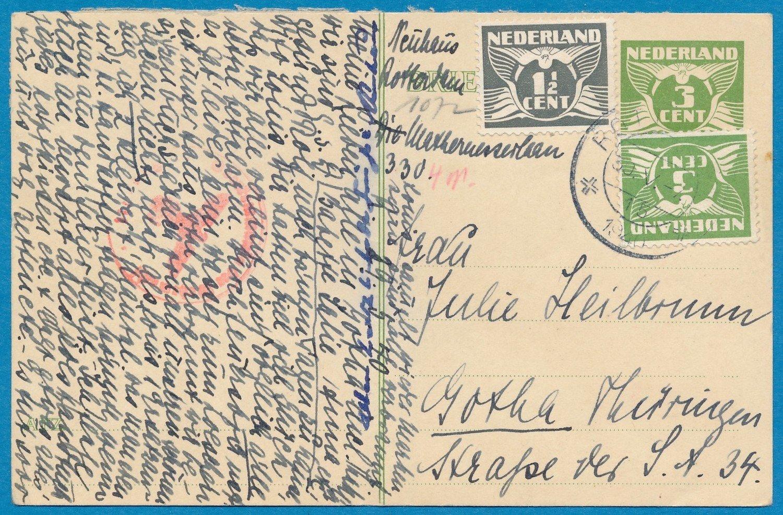NEDERLAND kaart 30-V-1940 Rotterdam -relaas van bombardement
