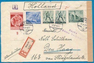 OOSTENRIJK R censuur brief 8-V-1940