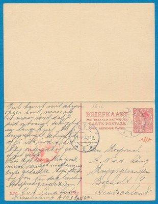 NEDERLAND gecensureerde kaart 1940 Epe naar krijgsgevangene