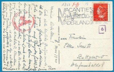 NEDERLAND kaart 8-V-1940 Den Haag