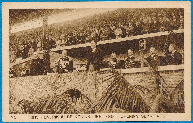 OLYMPIADE Amsterdam 1928 kaart Koninklijke loge *