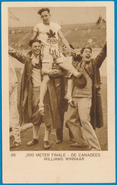 OLYMPIADE Amsterdam 1928 kaart hardlopen 200m Canada  *