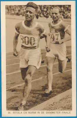 OLYMPIADE Amsterdam 1928 kaart hardlopen finale 5000m  *